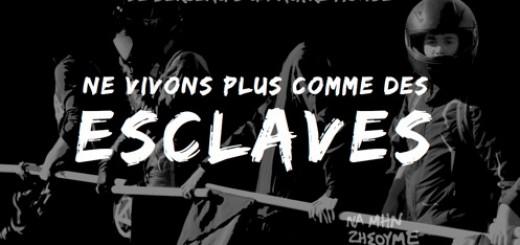 Ne vivons plus comme des esclaves