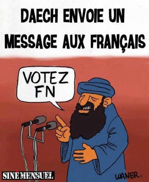 Voter FN, c'est voter Daech dans - BILLET - DERISION - HUMOUR - MORALE 17952774_1752111681766118_1143950844892200925_n