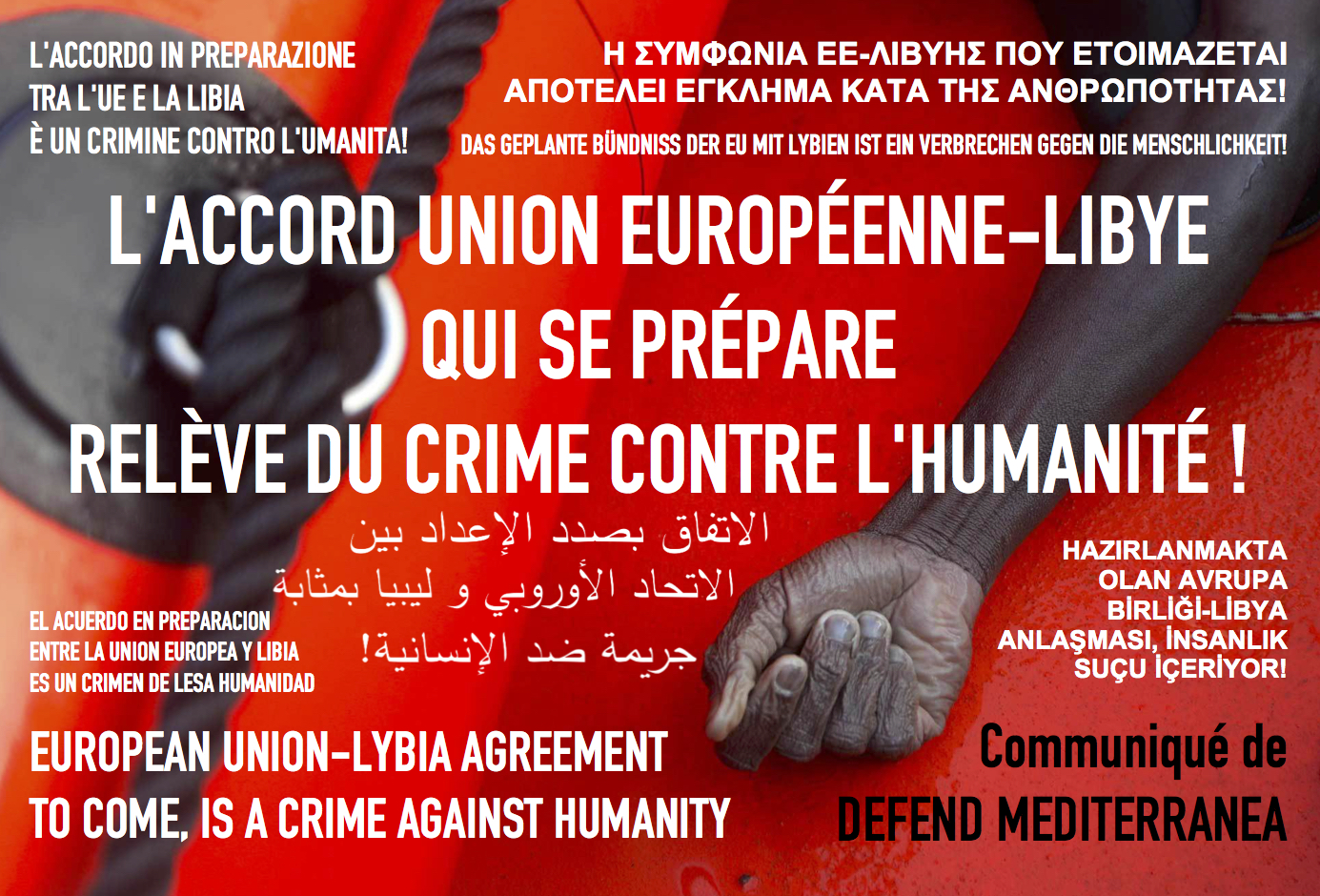 DEFEND MEDITERRANEA : « l'accord UE-Libye relève du crime contre l'humanité ! » dans - BILLET - DERISION - HUMOUR - MORALE accord-union-europenne-libye-defend-mediterranea-europe-antifa-cstar