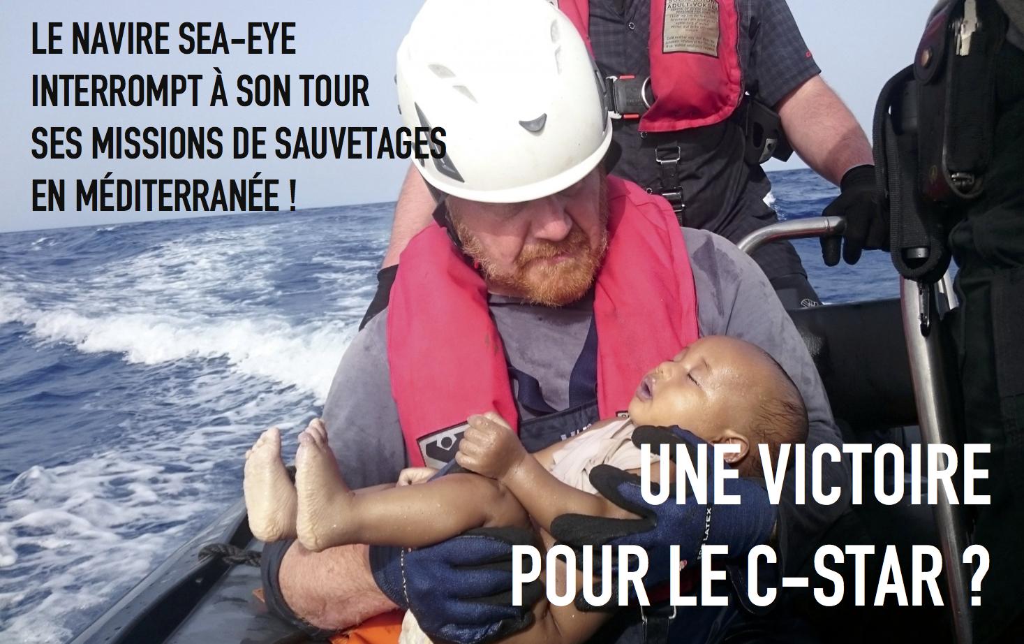 Encore un navire de sauvetage qui se retire : une victoire pour le C-Star ? dans - DISCRIMINATION - SEGREGATION - APARTHEID - RACISME - FASCISME cstar-defend-europe-sea-eye-sarraj-haftar